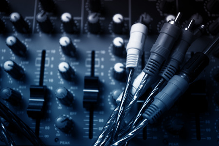 high frequency: Audio equalizer control panel and cable