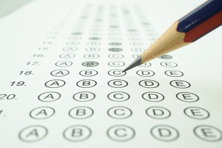 Answer sheet and pencil for education concept Stock Photo