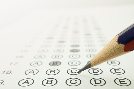 Answer sheet and pencil for education concept Zdjęcie Seryjne