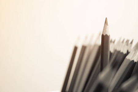 differential focus: focus highlighted pencil for business or idea concept