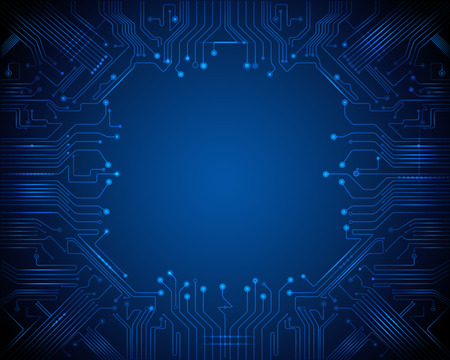 digital illustration: Abstract Technology circuit background