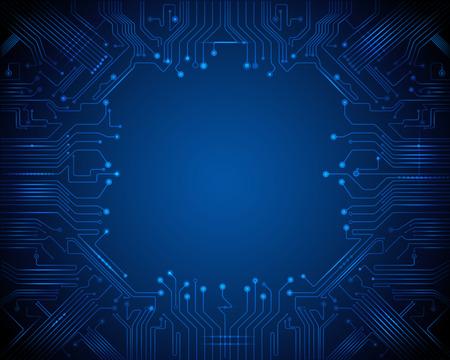 circuitos electricos: Circuito de fondo abstracto de la tecnología