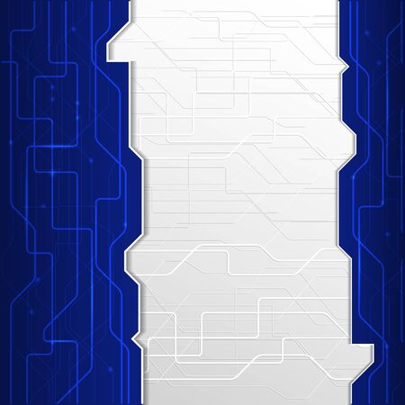 blank space: Illustration Blue abstract technology background with blank space design.