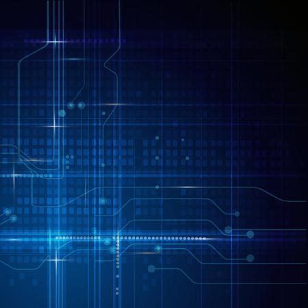 Vector illustratie Abstracte futuristische circuit board, hoge computer technologie achtergrond, groen blauwe kleur achtergrond