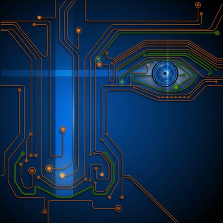 ojo azul: Tecnolog�a de ojo azul Circuito bordo- base conceptual
