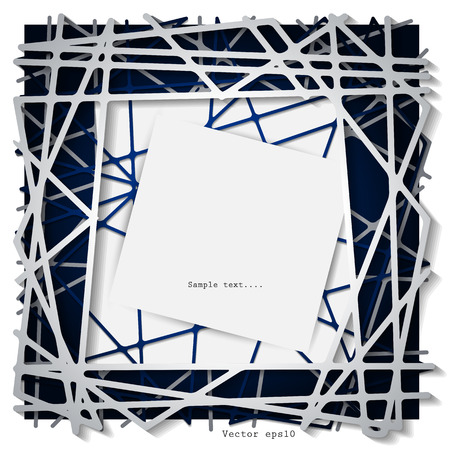 blank space: Abstract paper straight lines graphics with blank space for your design Illustration