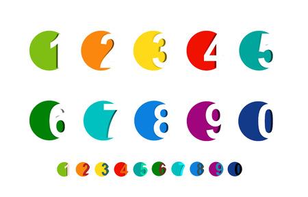 Números set.Vector ilustración. Foto de archivo - 55317544