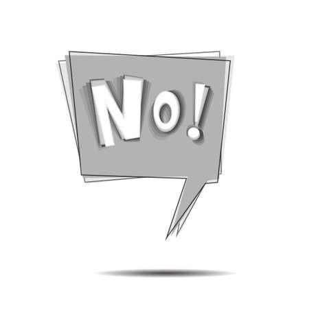 vibration: Vibration wording NO in comic speech bubble
