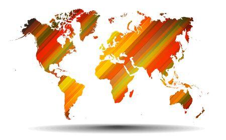lineas rectas: Resumen mapa del mundo con l�neas rectas fondo.
