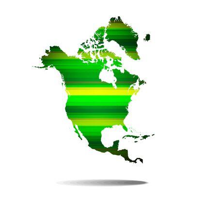 lineas rectas: L�neas rectas verdes abstractos con norteam�rica mapa de fondo Vectores