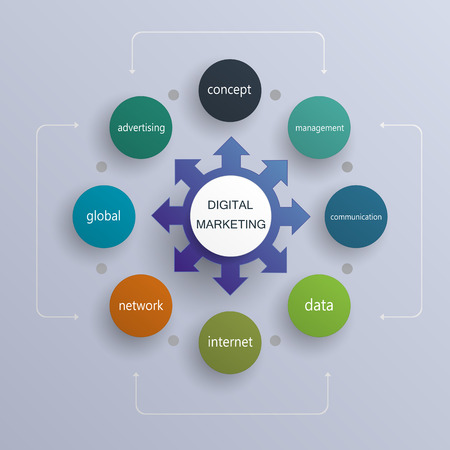data management: Business digital marketing plan ,Operations, Marketing Plan,infography