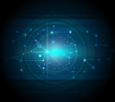 Vector illustration blue abstract technology hi-tech background Illustration