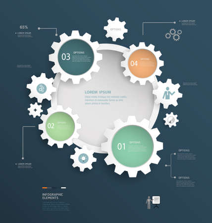 phonographic: Infographics design. Vector can be used for workflow layout, diagram, number options, web design.
