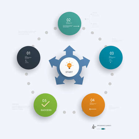 Minimal Infographics design.Can be used for workflow layout, diagram, number options, web design.Vector File.