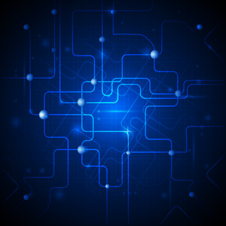 electrical system: Vector illustration.Abstract hi-tech blue background