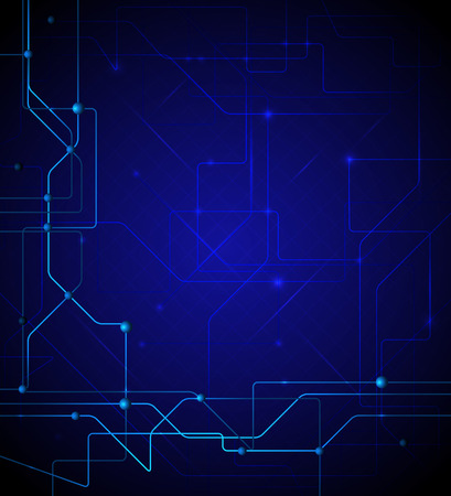 digital abstract: Vector illustration blue abstract technology background
