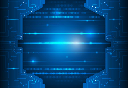 abstract technology: Circuit board. Abstract digital network technology blue background Illustration