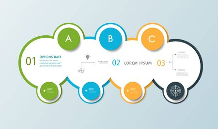 label design: Infographic circle label design with  place for your content.communication, business, social media, technology, network and web design. Illustration