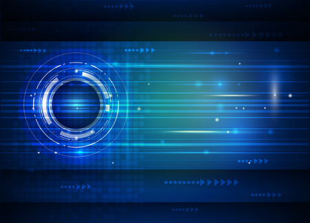 futuristic background: Abstract future digital science technology concept. Illustration vector futuristic of communication , electronic blue background