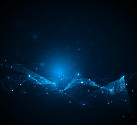 tecnologia: Fundo futurista - fundo tecnologia de moléculas. Projeto do vetor Ilustração tecnologia digital conceito