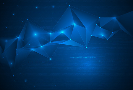Abstract Technology background with cyberspace Illustration