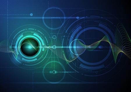 sound waves: Illustration Abstract futuristic wave-digital  technology concept vector background Illustration