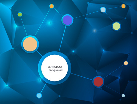 nano technology: Abstract Molecules technology with polygon background.Vector design