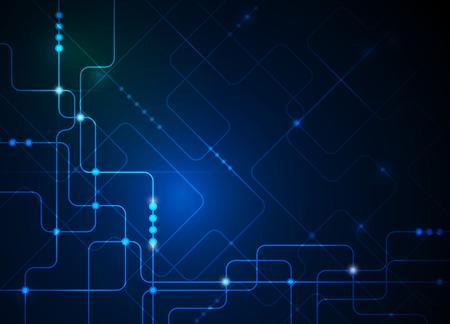 벡터 일러스트 레이 션 추상 미래의 회로 기판, 높은 컴퓨터 기술 배경, 녹색, 파랑 색 배경
