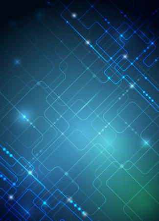 circuitos electricos: Ilustraci�n vectorial placa de circuito futurista abstracto, la mejor tecnolog�a inform�tica de fondo, verde, azul, color de fondo