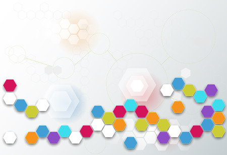 blank space: Abstract futuristic - Molecules technology background. Illustration Vector design digital technology concept. Blank space for your design Illustration