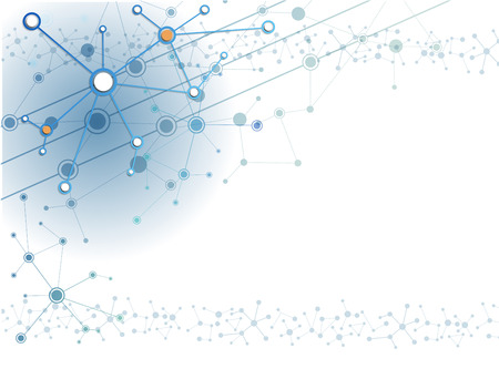 技術: 摘要分子的技術背景 向量圖像