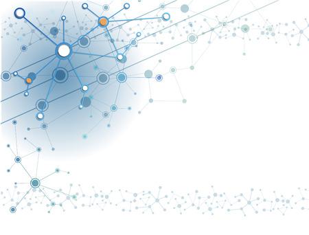 technologia: Cząsteczki technologii tle abstrakcyjnych