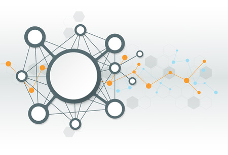 molecula: Resumen futurista - fondo de tecnología moléculas. Ilustración vectorial de diseño concepto de la tecnología digital. Espacio en blanco para su diseño