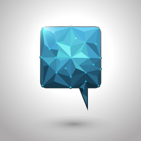 copy paste: Abstract geometric speech bubble with triangular polygons-low poly style design vector with your text