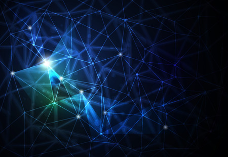 scientific: Abstract futuristic - Molecules technology background. Illustration Vector design digital technology concept Illustration