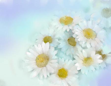 gerbera: Gerbera flower.Abstract flower oil painting