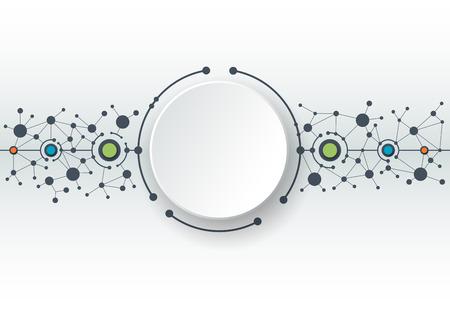 Ilustración del vector de moléculas abstractas y la comunicación Foto de archivo - 43909155