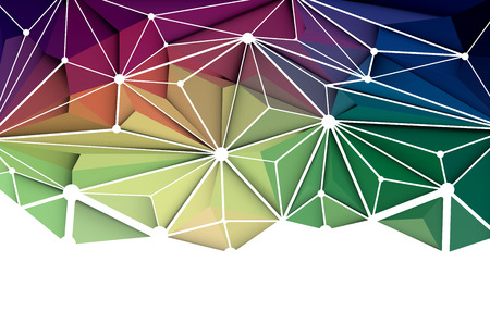 green and purple: Vector illustration Abstract 3D Geometric, Polygonal, Triangle pattern shape and multicolored,blue, purple, yellow and green background