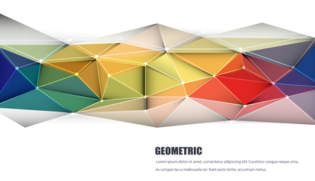 triangle pattern: Vector illustration Abstract 3D Geometric, Polygonal, Triangle pattern shape and multicolored,blue, purple, yellow and green background