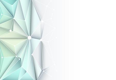 Vector futuristische technologie abstracte 3D Geometrische, Polygonal, driehoek patroon in moleculestructuur vorm met blauwe kleur achtergrond voor technologie visitekaartje, sjabloon, netwerk en web design Vector Illustratie