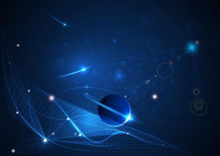 Résumé futuriste - fond de technologie moléculaire. Concepteur de conception numérique de conception d'illustration. Espace vide pour votre design