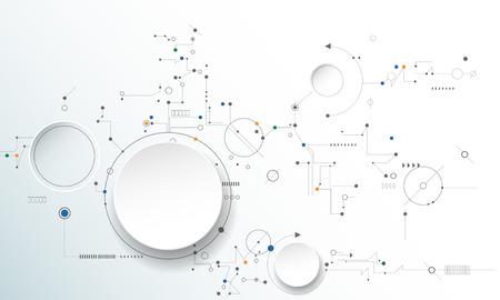 ilustración de la placa de circuito, la tecnología de alta tecnología digital y la ingeniería, la tecnología concepto de telecomunicaciones digitales. futurista abstracto en el fondo de color azul claro
