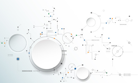 Ilustracja obwodami, Hi-tech technologii cyfrowej i inżynierii, koncepcja technologii cyfrowej telekomunikacji. Streszczenie futurystyczny na jasnoniebieskim tle koloru