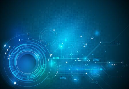 Resumen Futurista Circuito De Alta Tecnología Informática De