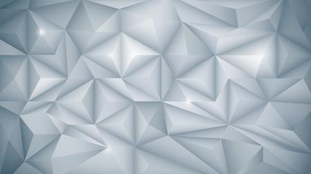 Vector Resumen geométrica 3D, polígono (poligonal), forma de patrón de triángulo. Blanco y color gris claro en fondo bajo-polivinílico. Polígono de fondo para su banner, plantilla, negocios, red y diseño web