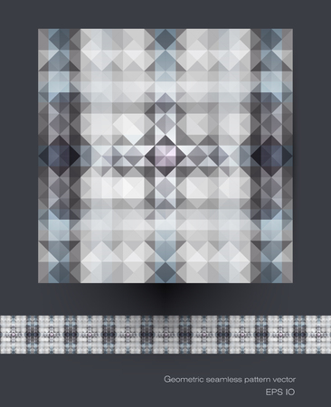 blue network: Seamless geometric patterns vector. Polygon ( polygonal ), triangle pattern shapes. Abstract Mosaic pattern, blue color background for your content, banner, template, network and web design