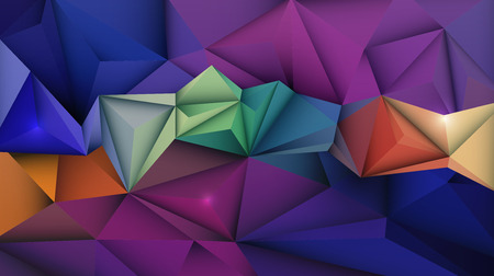 blue network: Vector Geometric, Polygonal ( Polygon ) Triangle pattern. Multicolored, blue, yellow and green in low poly background. Design for content, banner, template, network and web design