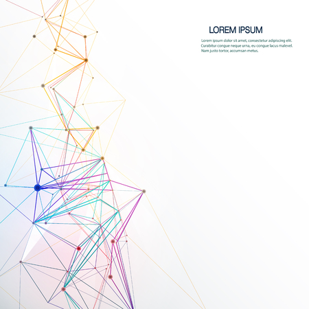 Vector Kort futuristische - Moleculen technologie achtergrond. Geometrisch, Polygonal, Driehoek patroon in moleculestructuur vorm. Digitaal futuristisch, communicatie, concept van de technologie