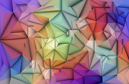 blue network: Vector Abstract 3D Geometric, Polygon ( polygonal ), Triangle pattern shape. Multicolored, blue, purple, yellow and green polygon background for your content, banner, template, business, network and web design Illustration