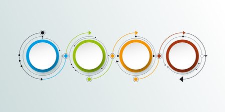 network marketing: Vector molecule with 3D paper label, integrated circles background. Blank space for content, business, infographic, diagram, digital network, flowchart. Social network connection technology concept Illustration